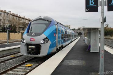 Les Régiolis B 84500 sur les TER Marseille- Aix En Provence